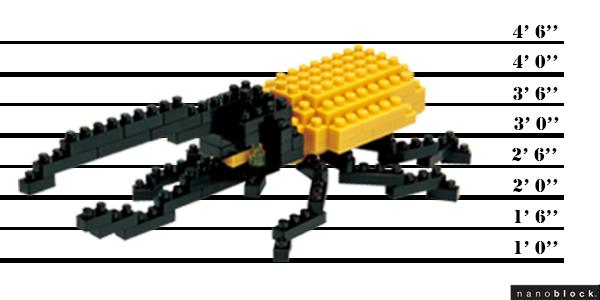 Scarabée Dynaste Hercule nanoblock