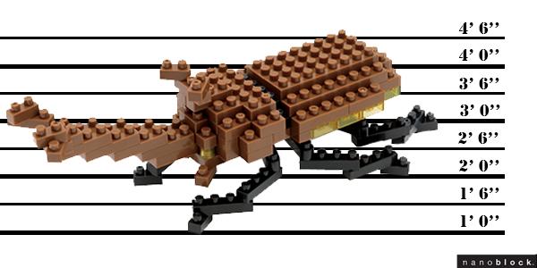 Scarabée Rhinocéros Japonais_suspect nanoblock