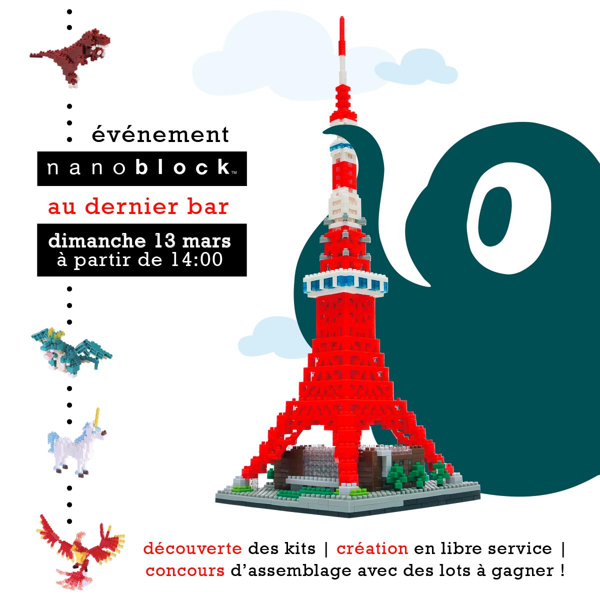 événement nanoblock au Dernier Bar avant la Fin du Monde